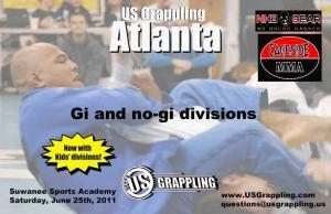 BJJ and Submission Grappling tournament in Atlanta